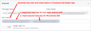 FB android sdk keystore