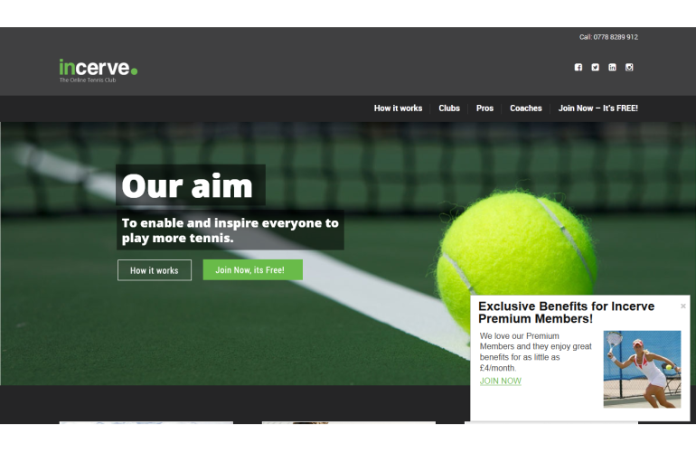 Incerve – The Online Tennis Club