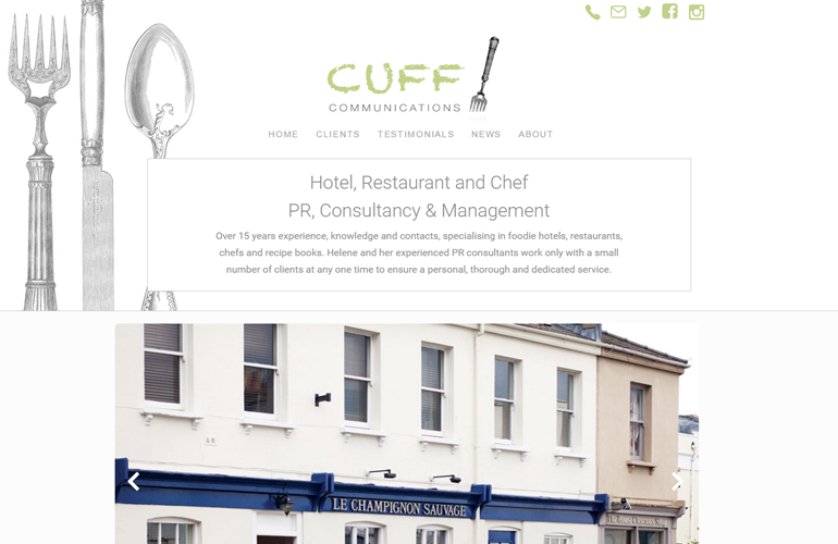 Cuff Communications Website